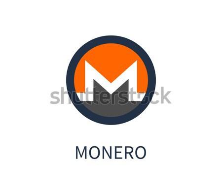 Monero Cryptocurrency Icon Vector Illustration Stock photo © robuart