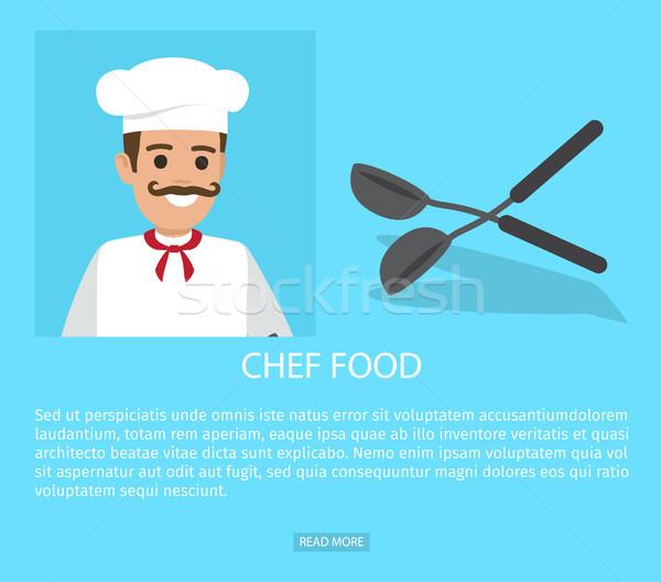 Chef profession grasse vecteur web bannière Photo stock © robuart