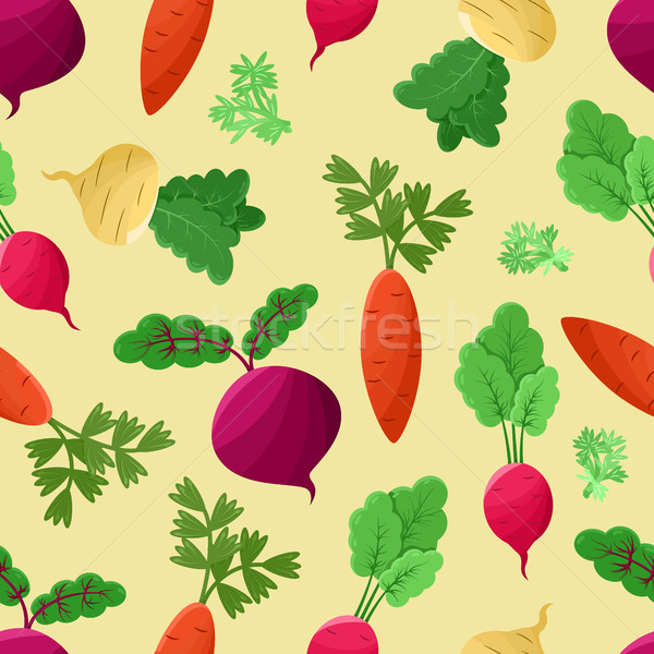 Vegetables Background, Vector Illustration Stock photo © robuart