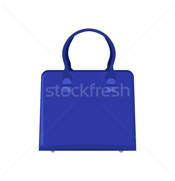 Summer Mode Blue Bag Poster Vector Illustration Stock photo © robuart