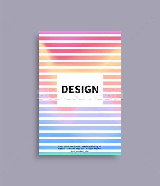 Terv brosúra vázlat fölösleges keret szöveg Stock fotó © robuart