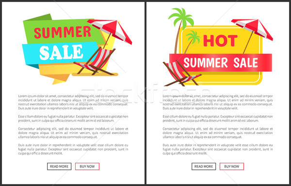 Hot Summer Sale Promotional Vertical Banners Set Stock photo © robuart