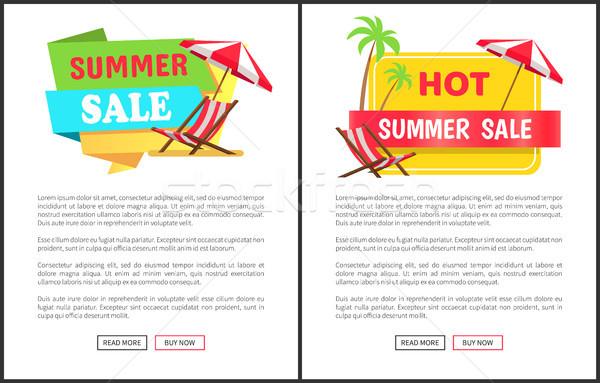 Forró nyár vásár promóciós függőleges bannerek Stock fotó © robuart