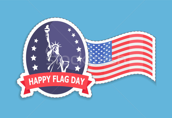 Happy Flag Statue of Liberty Vector Illustration Stock photo © robuart