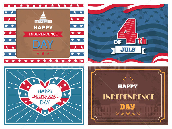 Posters Dedicated to Independence Day of America Stock photo © robuart