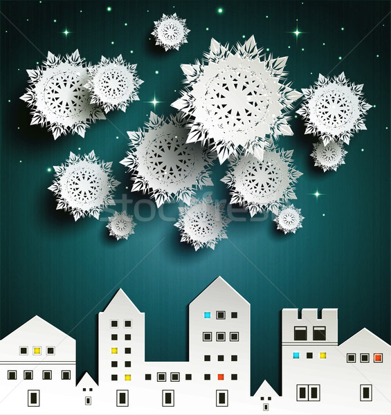 Paper snowflakes Stock photo © robuart