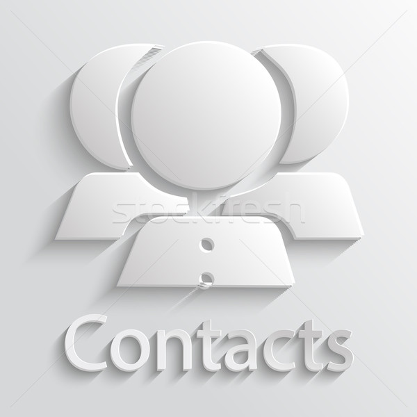 Icon contacts Stock photo © robuart