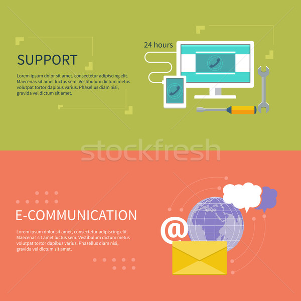 Support with different item icons Stock photo © robuart