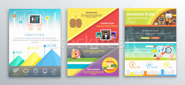 Business brochures banners ingesteld strategie Stockfoto © robuart