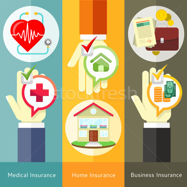 House , business, medical and health insurance Stock photo © robuart