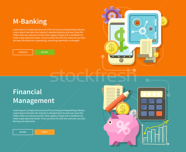Internet Online Banking and Financial Management Stock photo © robuart