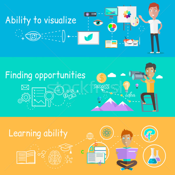 Business Ability of Visualize Learning Stock photo © robuart