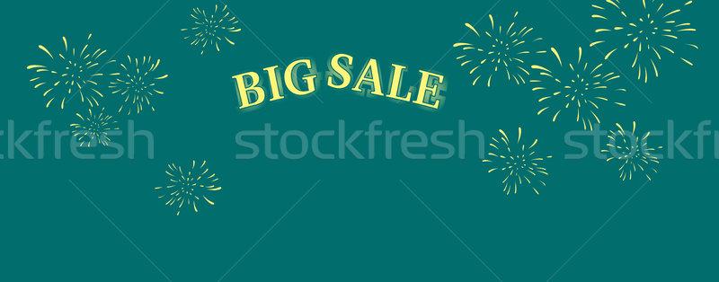 Big Sale Word Salute Stock photo © robuart
