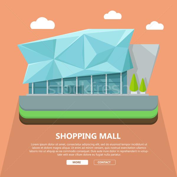 Einkaufszentrum Web Vorlage Design Seite Text Stock foto © robuart