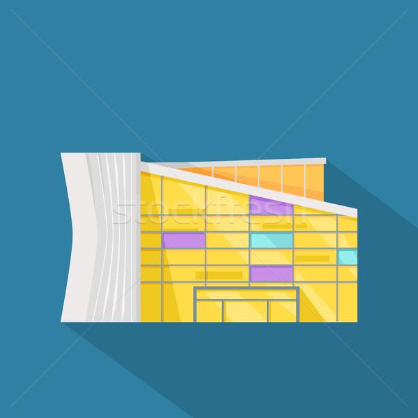 Pláza háló sablon terv oldal irodaépület Stock fotó © robuart