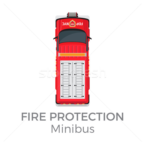 Fire Protection Minibus Means of Transportation Stock photo © robuart