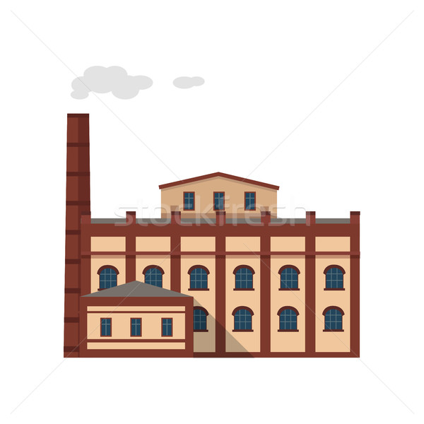 Industria edificio aislado blanco icono fábrica Foto stock © robuart