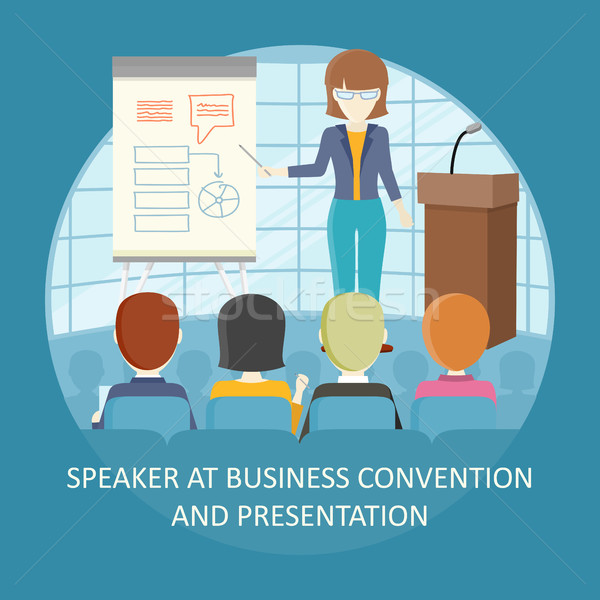 Business Training Vector Concept in Flat Design. Stock photo © robuart