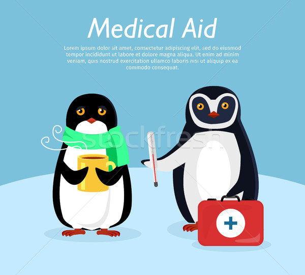 Medical Aid Conceptual Flat Stye Vector Banner Stock photo © robuart
