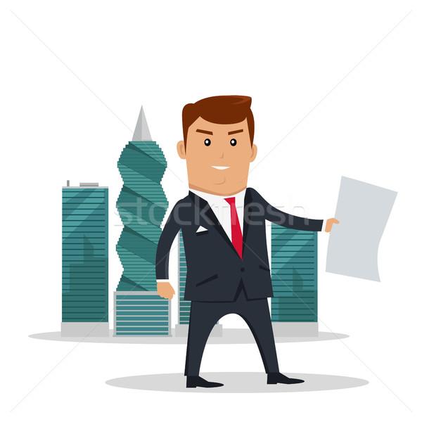 Documenten man business vel papier Stockfoto © robuart