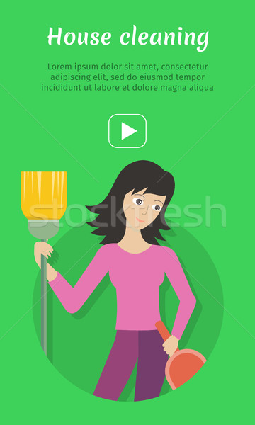 Cleaning Service Ad Card, Banner, Poster, Fier Stock photo © robuart