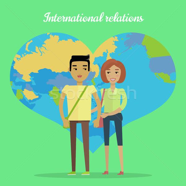 Internationale betrekkingen ontwerp vector samenwerking asian Stockfoto © robuart
