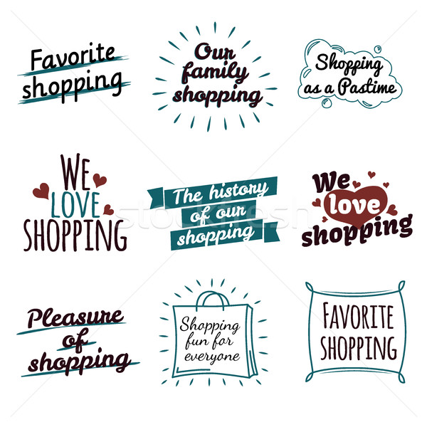 Shopping Label Logotypes Collection on White. Stock photo © robuart