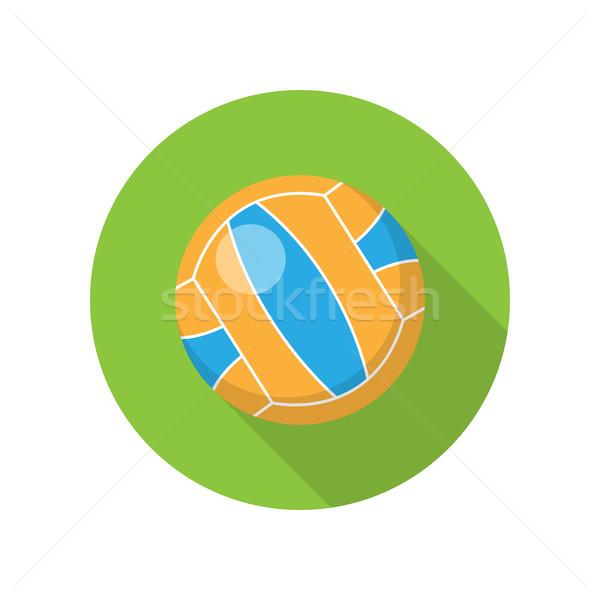Röplabda terv labda vektor stílus sport Stock fotó © robuart