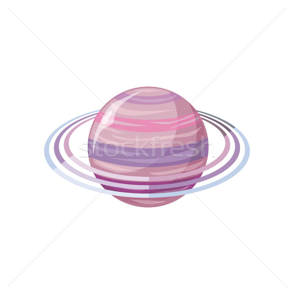 Saturn Planet. Sun System. Universe. Vector Stock photo © robuart