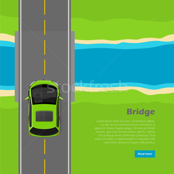 Köprü vektör web afiş modern mini Stok fotoğraf © robuart