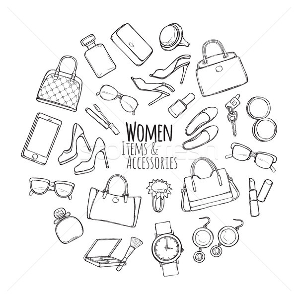Women Items and Accessories. Collection of Things Stock photo © robuart