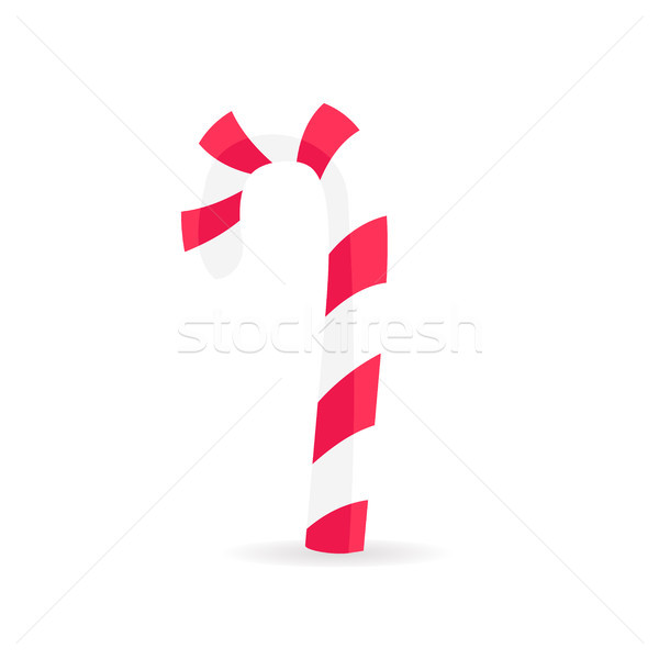 Striped Candy Stick in Red White Colors Isolated. Stock photo © robuart