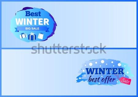 Blauw geiser stroom water aarde tekening Stockfoto © robuart