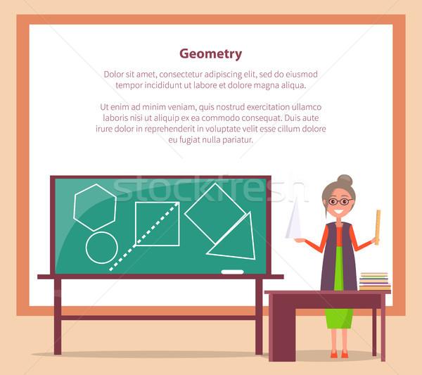 Geometria lekcja internetowych banner miejsce tekst Zdjęcia stock © robuart