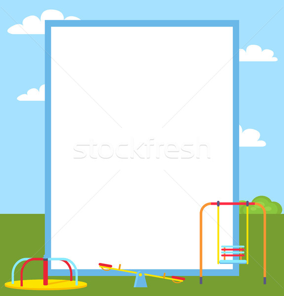 Playground Colorful Posters Vector Illustration Stock photo © robuart
