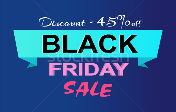 Desconto black friday venda promo etiqueta Foto stock © robuart