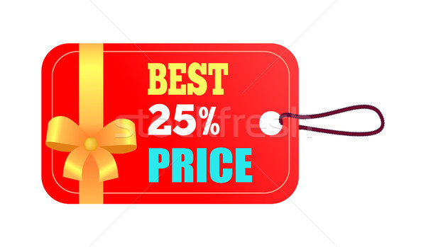 Mejor 25 precio rojo etiqueta agujero Foto stock © robuart