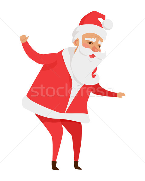 Santa Claus with Stretched Arms Isolated on White. Stock photo © robuart