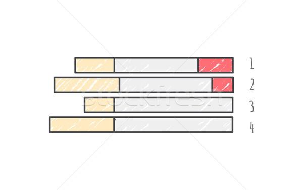 Gráfico de barras datos tendencias diferente colores horizontal Foto stock © robuart