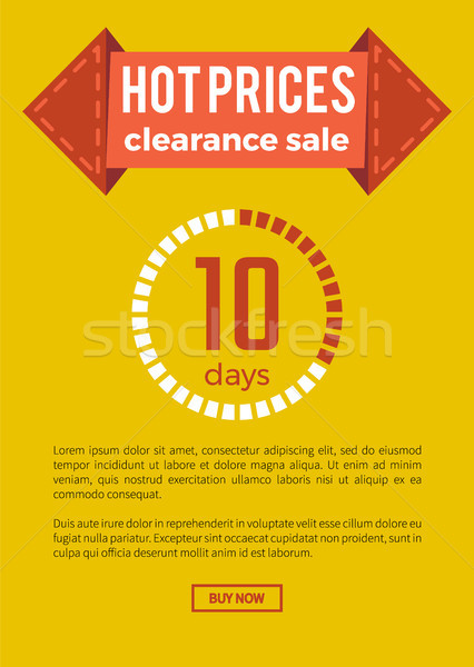 Hot Prices Clearance Sale on Vector Illustration Stock photo © robuart