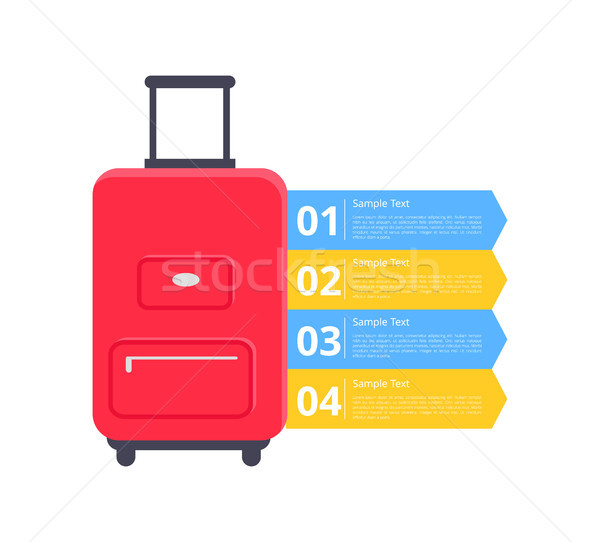 Baggage Packing Instructions Vector Illustration Stock photo © robuart