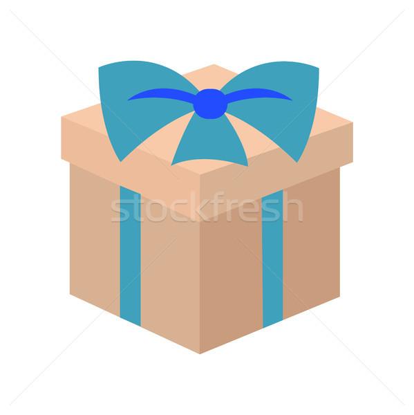 Vorliegenden Weihnachten Eleganz Geschenk cute Bogen Stock foto © robuart