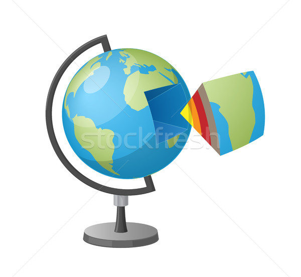 Earth Cutaway Isolated Cartoon Style Illustration Stock photo © robuart