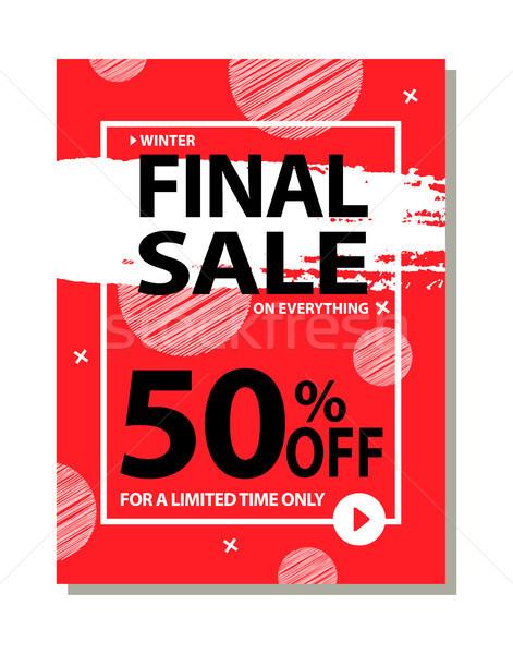 Final venta 50 tiempo anunciante Foto stock © robuart