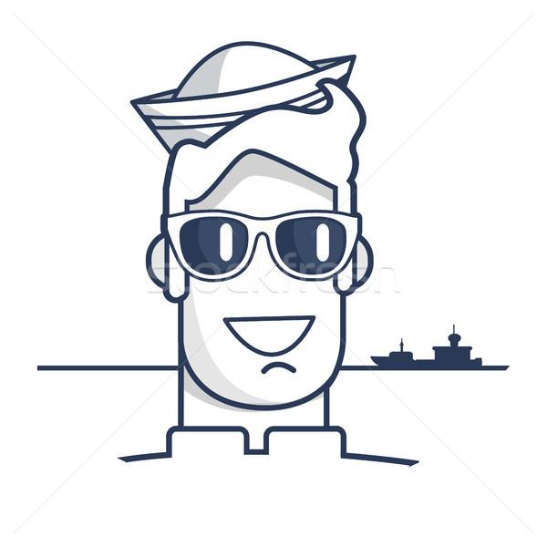 Wesoły marynarz okulary portret nowoczesne Zdjęcia stock © robuart