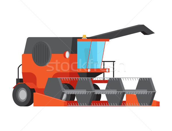 Combine Harvester Isolated Flat Vector Stock photo © robuart