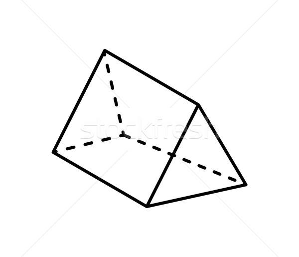 Prisma geometrica figura nero colore Foto d'archivio © robuart