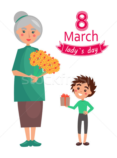 8 March Ladys Day Poster, Vector Illustration Stock photo © robuart