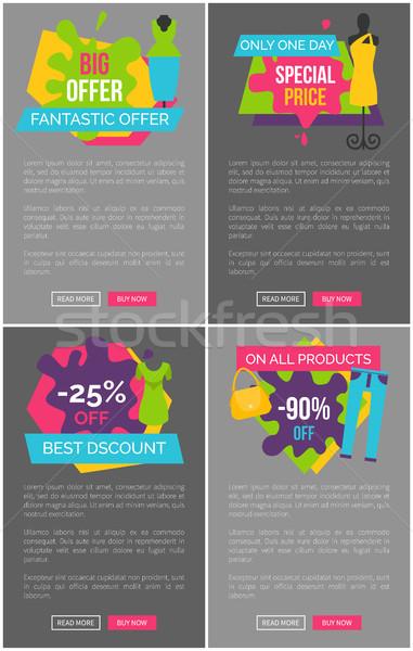 Nagy fantasztikus ajánlat különleges ár promóció Stock fotó © robuart