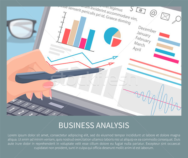 Business Analysis Text Sample Vector Illustration Stock photo © robuart
